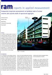 Comparative long-term measurements on concrete buildings