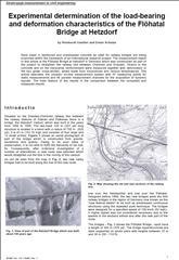 Experimental stress analysis of the Flöhatal Bridge
