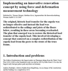 Innovative renovation concept by using force and deformation measurement