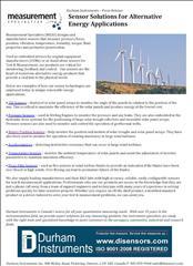 Sensor Solutions for Alternative Energy Applications