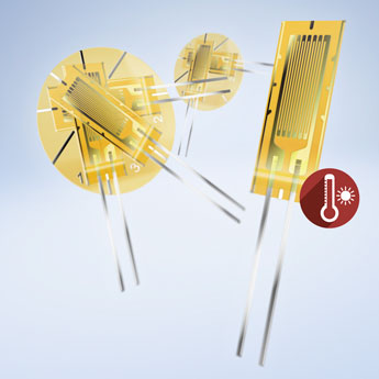 KFU Strain Gauges for High Temperatures