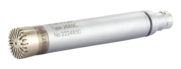 Type 4192-C-001  ½-Inch Pressure-Field Microphone With Type 2669-C Preamplifier, 3 HZ TO 20 KHZ, 200 V Polarization