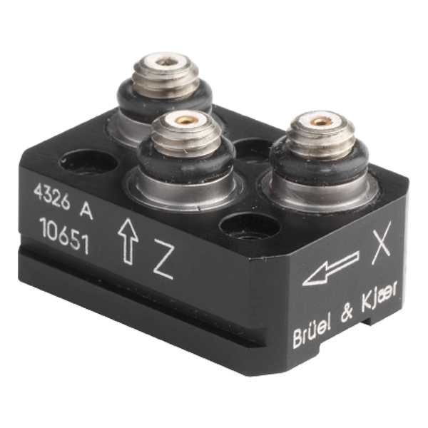 B&K Type 4326-A  Miniature Triaxial Piezoelectric Charge Accelerometer, Excl. Cable