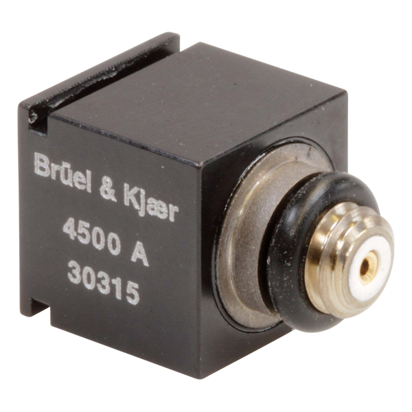 B&K Type 4500-A Piezoelectric Cubic Charge Accelerometer, Top Connector, Excl. Cable
