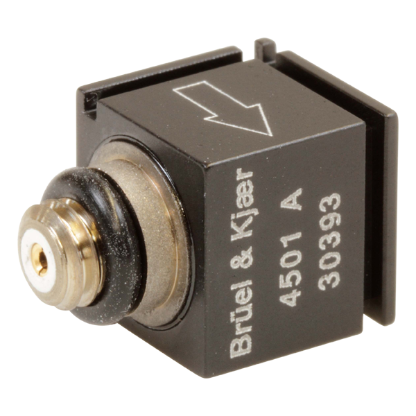 B&K Type 4501-A  Piezoelectric Cubic Charge Accelerometer, Side Connector, Excl. Cable