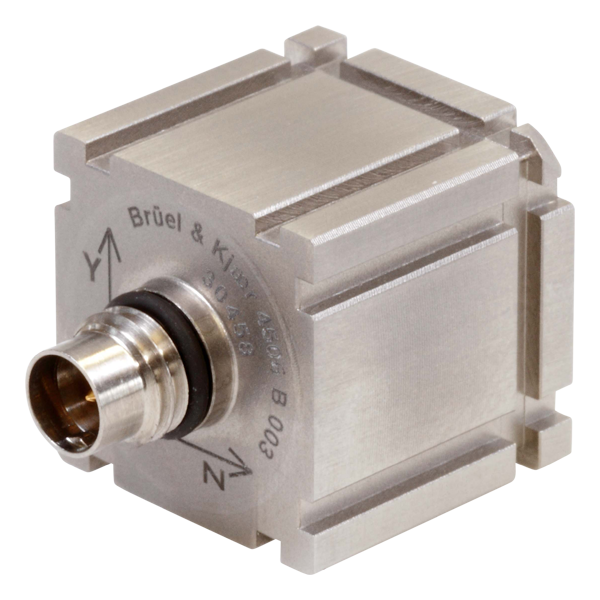 B&K Type 4506-B-003 Miniature Triaxial Piezoelectric CCLD Accelerometer, TEDS, 500MV/G, Excl. Cable