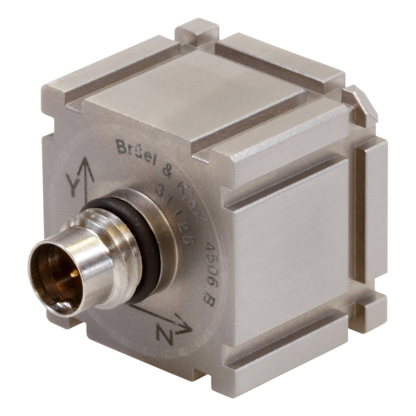 B&K Type 4506-B  Miniature Triaxial Piezoelectric CCLD Accelerometer, TEDS, 100MV/G, Excl. Cable