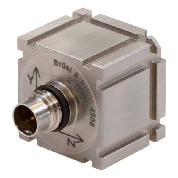 B&K Type 4506  Miniature Triaxial Piezoelectric CCLD Accelerometer, 100MV/G, Excl. Cable