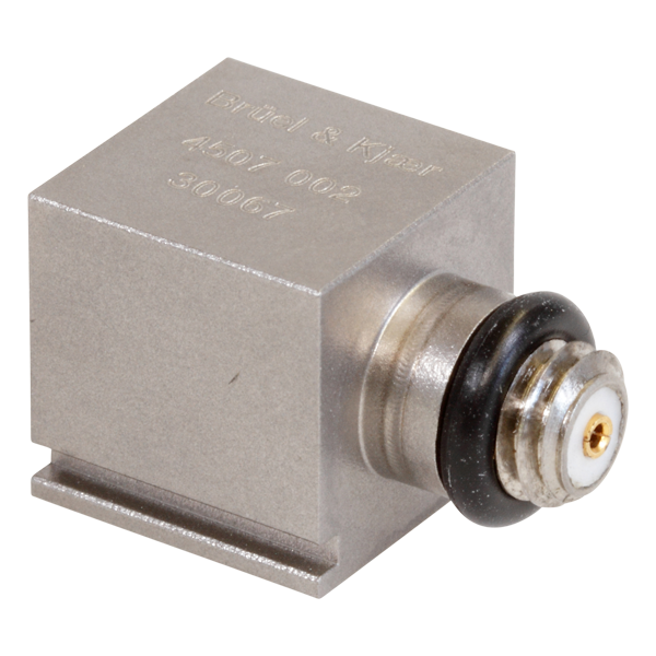 B&K Type 4507-002 Piezoelectric CCLD Accelerometer, 10MV/G, Side Connector, 1 Slot, Excl. Cable
