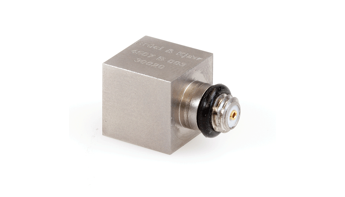 B&K Type 4507-B-003 Piezoelectric CCLD Accelerometer, TEDS, 1MV/G, Side Connector, No Slot, Excl. Cable