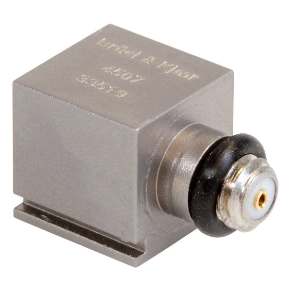 B&K Type 4507 Piezoelectric CCLD Accelerometer, 1MV/G, Side Connector, 1 Slot, Excl. Cable