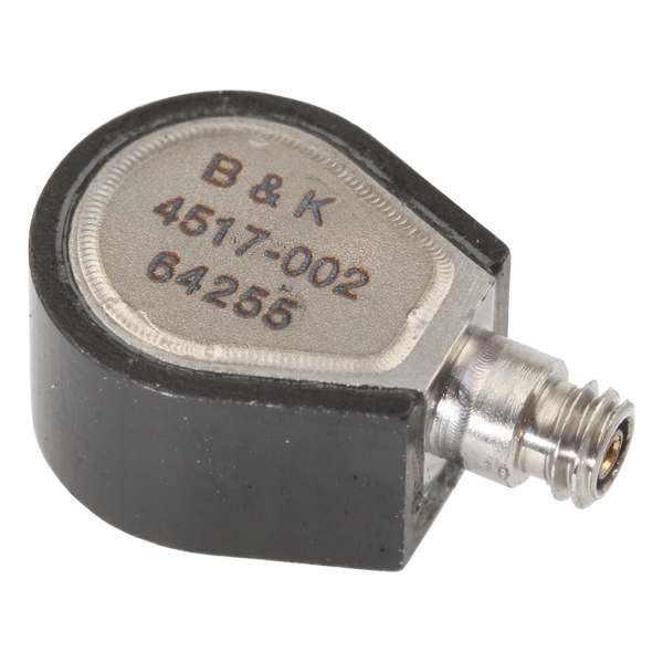 B&K Type 4517-002  Miniature Tear-Drop CCLD Accelerometer, 10 MV/G, Hermetic, INCL. 1 M Removable Cable