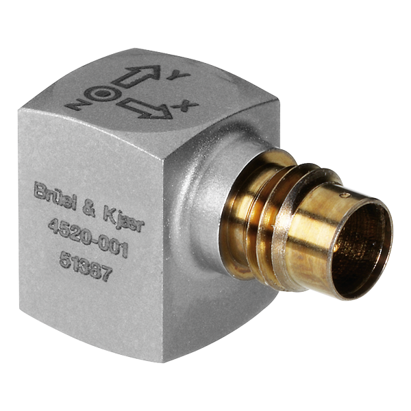 B&K Type 4520-001 Miniature Cubic Triaxial CCLD Accelerometer, 10 MV/G, M3 Tapped Hole