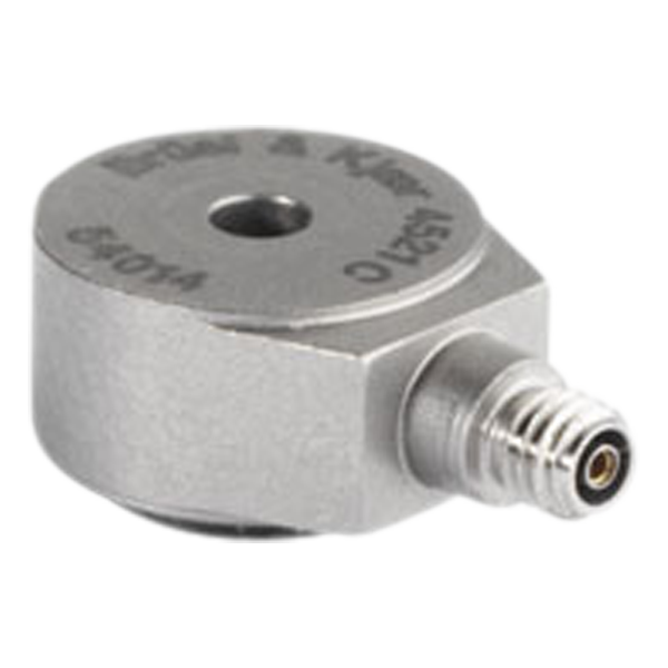 B&K Type 4521-C  Miniature Centerbolt Charge Accelerometer, High Temp, Hermetic, Excl. Cable