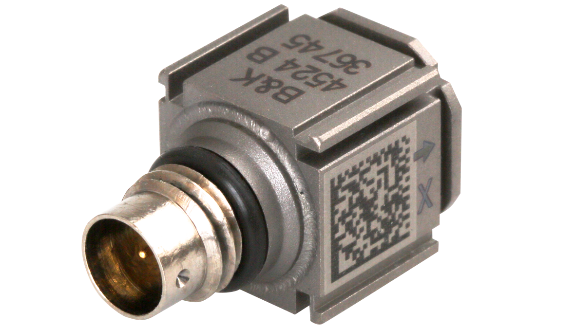 B&K Type 4524-B  Triaxial CCLD Piezoelectric Accelerometer, TEDS