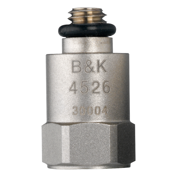 B&K Type 4526-001  CCLD Accelerometer, 10 MV/G, 700 G Range, Top Connector, Excl. Cable