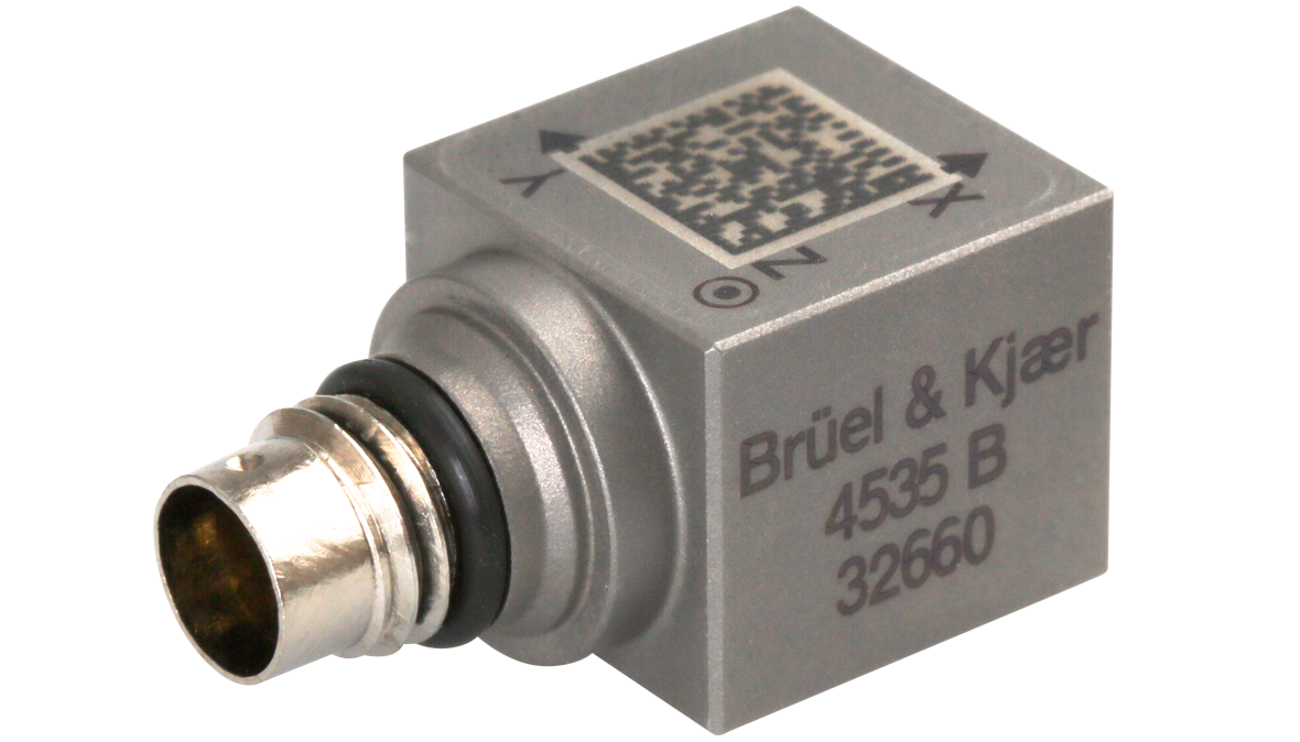 B&K Type 4535-B General-Purpose Triaxial CCLD Accelerometer, TEDS, 9.8 MV/G, Excl Cable