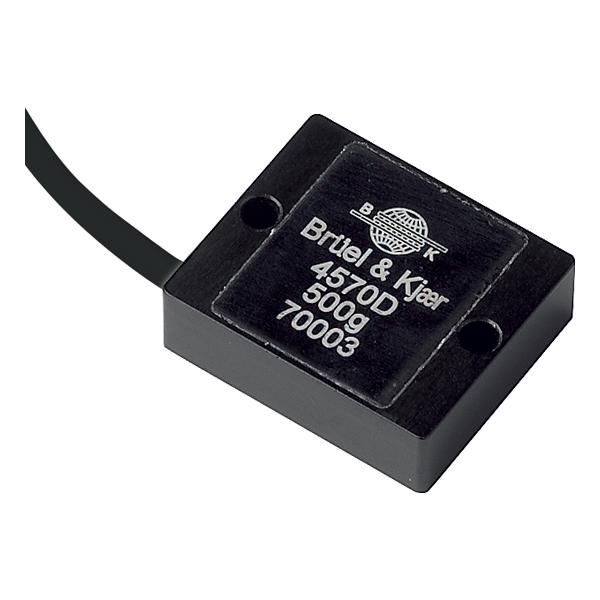 B&K Type 4570 Accelerometer DC Response, 500G, 4 MV/G, Integral Open Ended Cable
