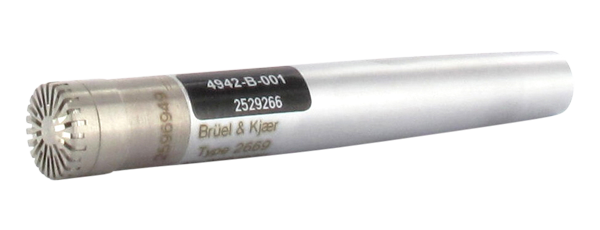 Type 4942-B-001  ½-Inch Diffuse-Field Microphone With Type 2669-B Preamplifier, 6.3 HZ TO 16 KHZ, Prepolarized