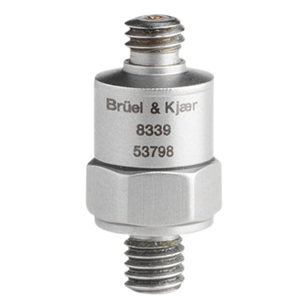 B&K Type 8339  CCLD Shock Accelerometer, .25 MV/G, Top Connector, Excl. Cable