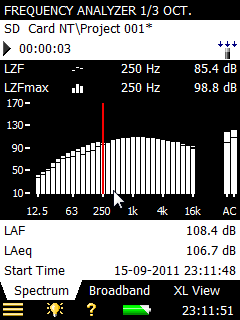 BZ-7131 And BZ-7132  1/1- And 1/3-Octave Frequency Analysis Software For Type 2250 Light