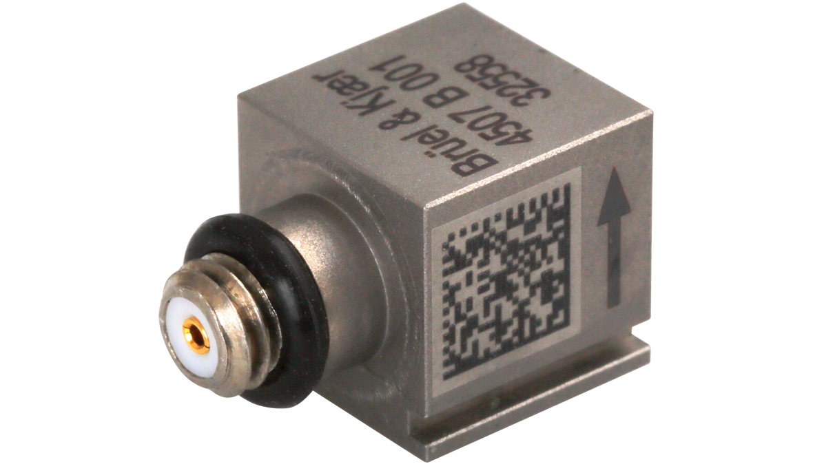 B&K Type 4507-B-001 Piezoelectric CCLD Accelerometer, TEDS, 0.1MV/G, 1 Slot, Excl. Cable