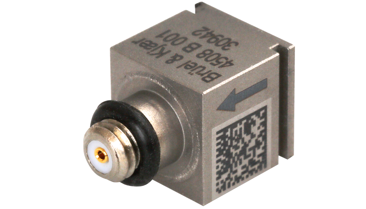 B&K Type 4508-B-001  Piezoelectric CCLD Accelerometer, TEDS, 10 MV/G, 1 Slot, Top Connector, Excl. Cable