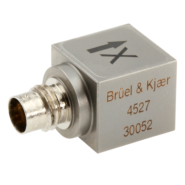 B&K Type 4527 Triax Accelerometer, High Temp,10 MV/G, Side Conn, Hermetic, M3 Tapped Hole, Excl. Cable
