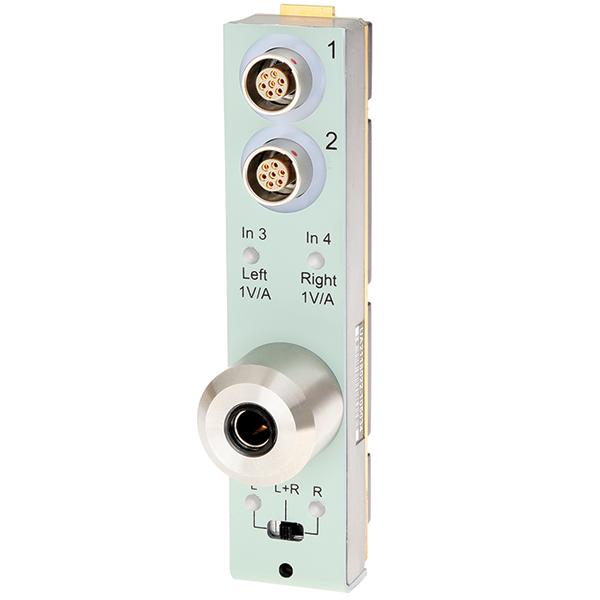 UA-2118  Headphone Test, 2 + 2 Channel LAN-XI Front Panel