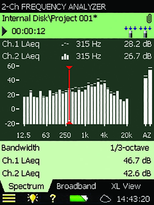 BZ-7223  1/3- And 1/1-Octave Frequency Analysis Application For Types 2250 And 2270