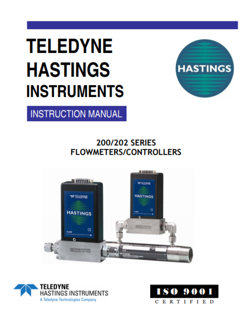 200/202 Series Flowmeters And Controllers