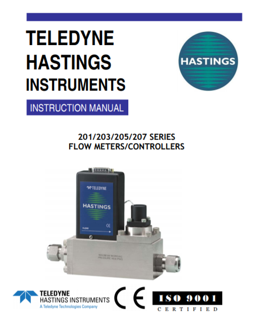 201/203/205/207 Series Flow Meters And Controllers