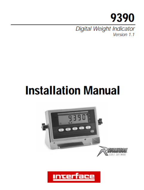 9390 Weight Indicator-Installation Manual