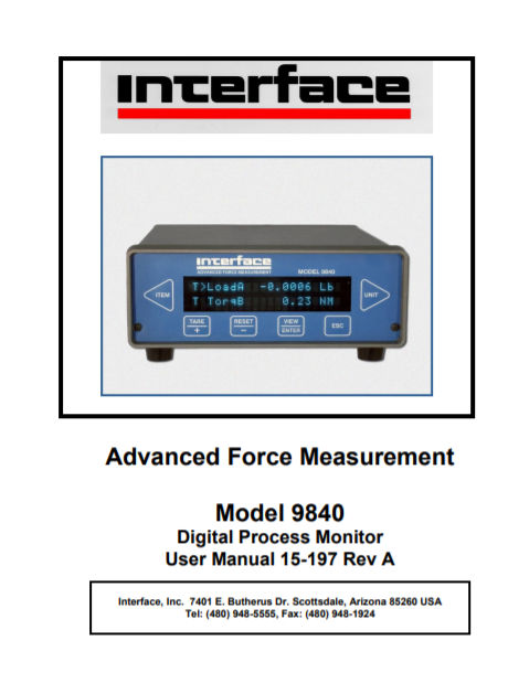 9840 Intelligent Indicator-User Manual