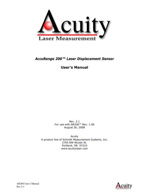 AP200 Laser user manual