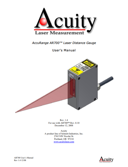 AP700 Laser user manual