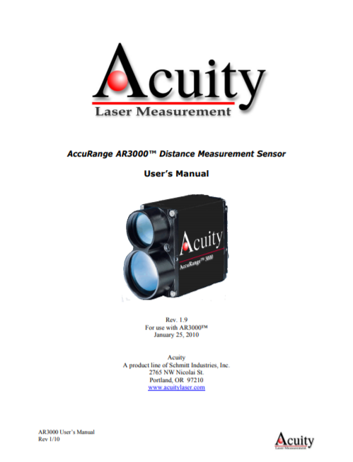 AR3000 Laser user manual