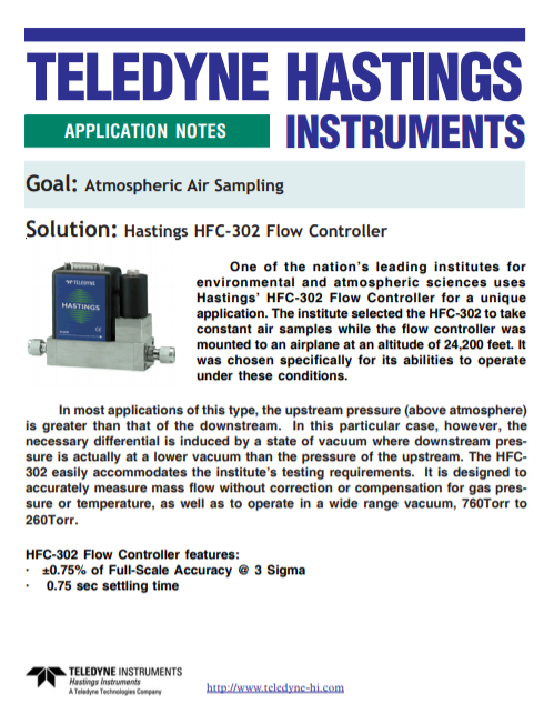 Atmospheric Air Sampling