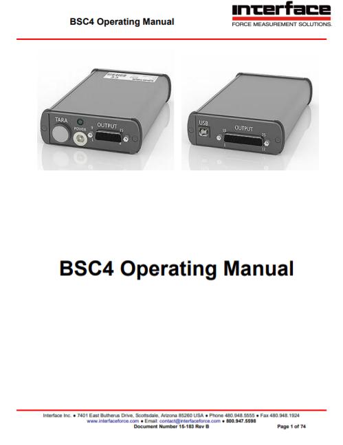 BSC4-Operating Manual