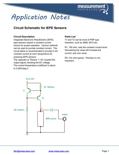 Circuit Schematic for IEPE Sensors