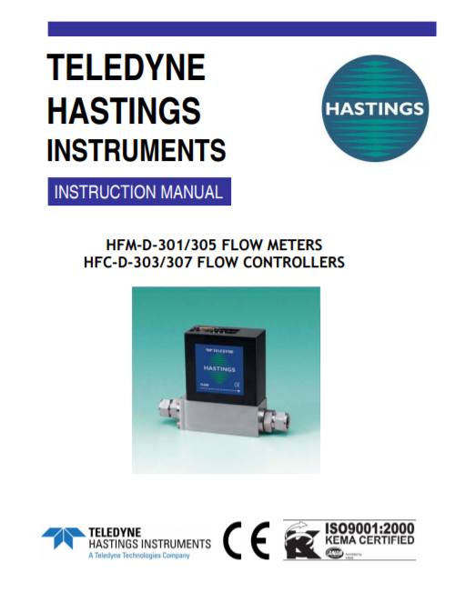 D-301-303-305-307 Digital Flowmeters-Controllers