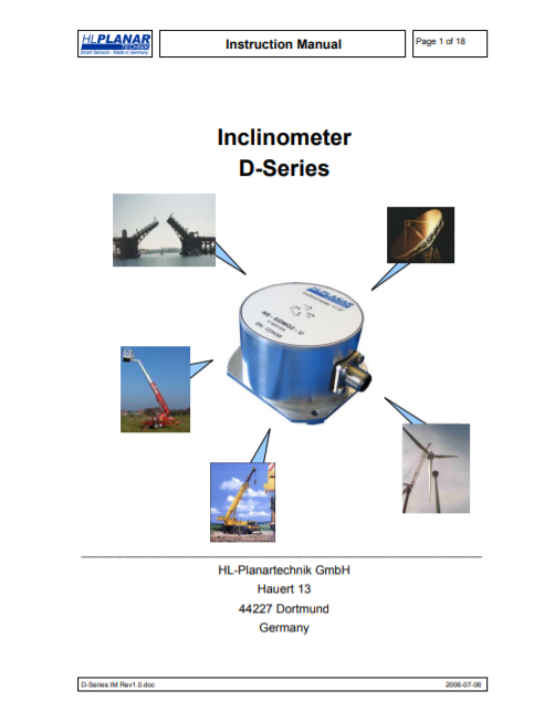 D-series Inclinometer – Manual