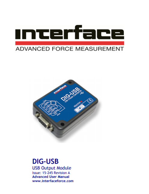 DIG-USB Digital Signal Conditioner- Advanced Operating Manual