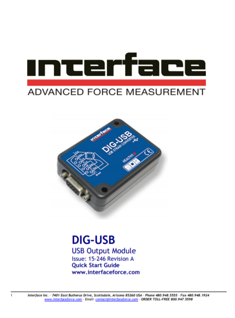 DIG-USB Digital Signal Conditioner-Quick Start Guide