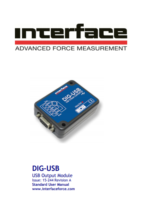 DIG-USB Digital Signal Conditioner-Standard Operating Manual