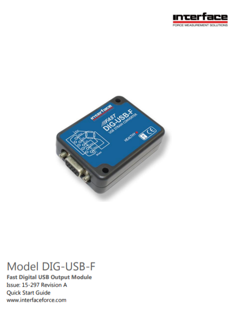 DIG-USB-F Fast Digital Signal Conditioner-Quick Start Guide