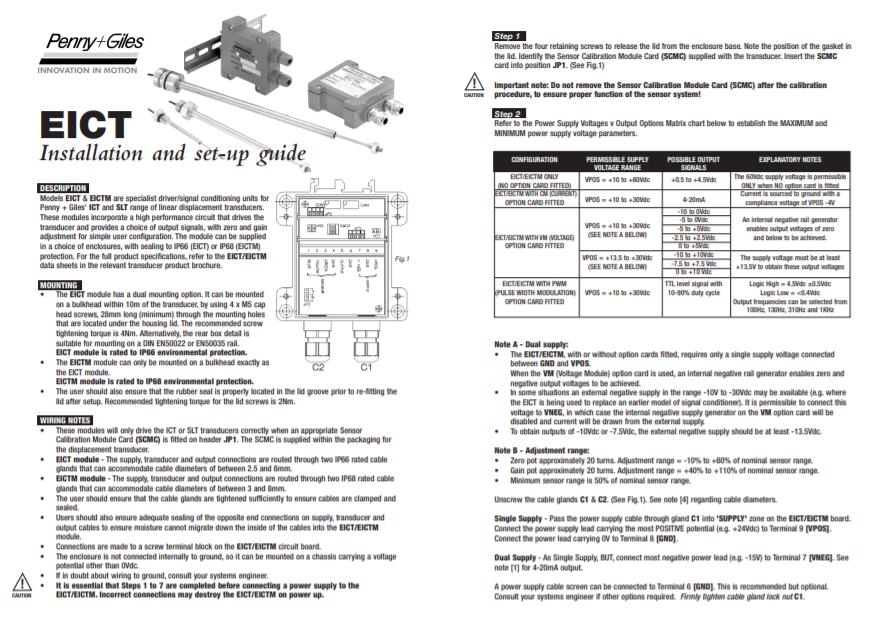 EICT Setup Guide