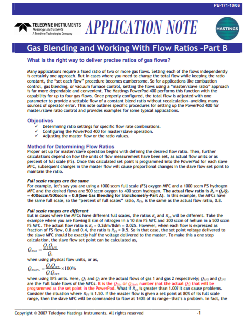 Gas Blending Part B