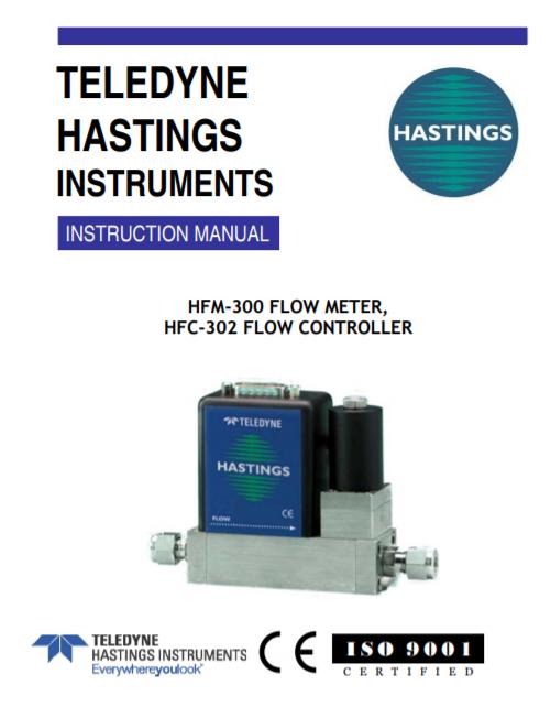 HFM-300 Flow Meter, HFC-302 Flow Controller