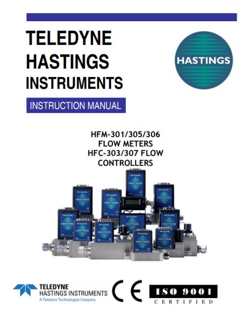 HFM-301/305/306 Flow Meters, HFC-303/307 Flow Controllers